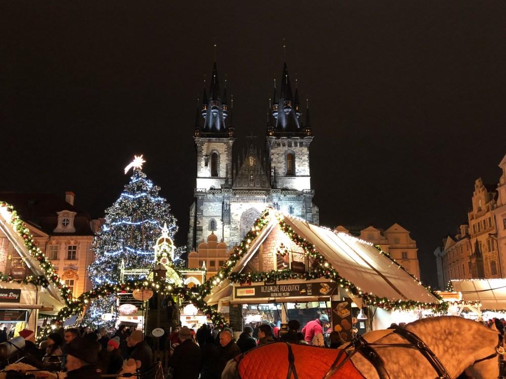Prague - Old Town Square Christmas Market (Night)
