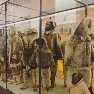 Parka from the Great Sledge Expedition. Tertaq's mother attached 80 amulets to the parka of her 6 to 7-year-old son. They are made of animal skin bones, teeth, human, and animal hair, claws, beaks, stones, wood, and fish skin. They were to give him strength and protect him from evil spirits. Tertaq had more amulets than anyone else in the Netsilik Inuit community of Canada he came from. The explorer Knud Rasmussen brought back the parka to Denmark after visiting the people of the Arctic by sled on the 5th Thule Expedition in 1923.