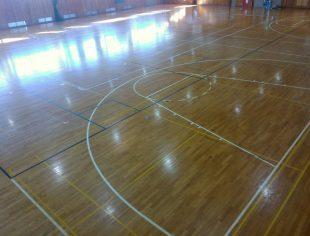 バスケットボール改線工事施工前