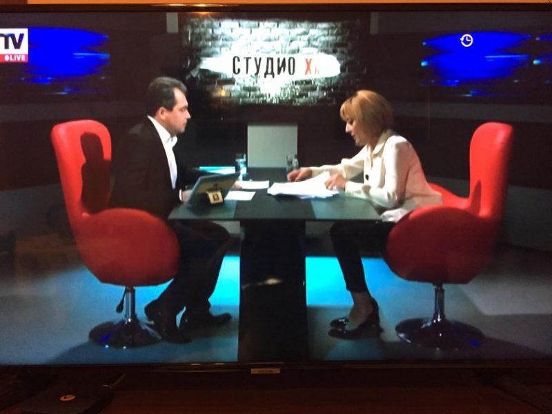 Мая Манолова в телевизията на Слави