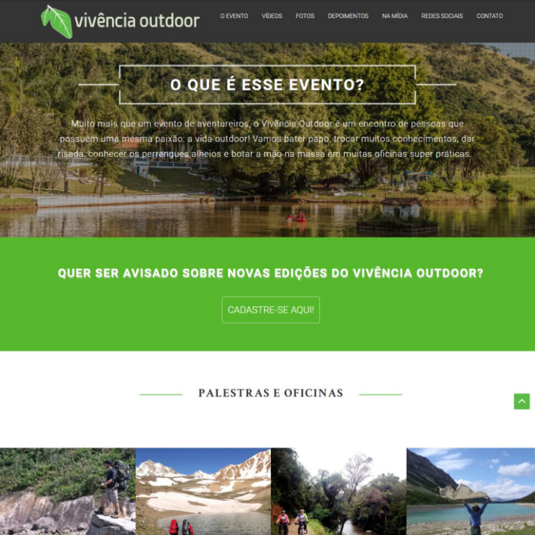 Site Vivência Outdoor