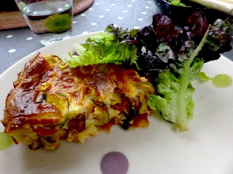 Tarte salée parmesan haddock