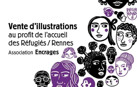 Vente d'illustrations au profit de l'accueil des réfugiés à l'Hôtel Pasteur à Rennes