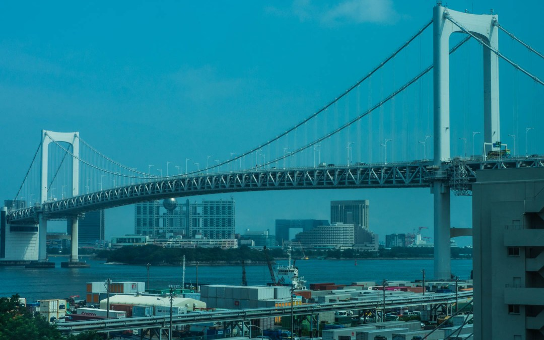 Balade avec vue sur la baie de Tokyo pour rejoindre Odaiba