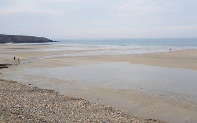 La plage de Trez Bellec en hiver