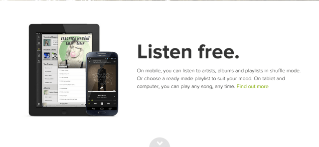 Spotify free on mobile