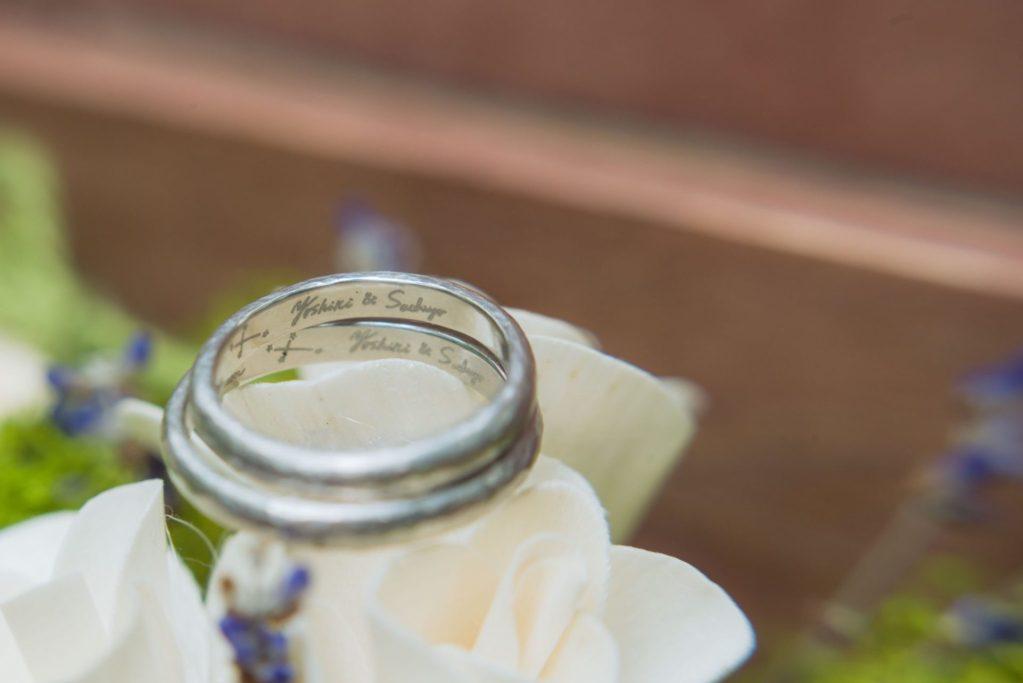 べるが(verga)での結婚式-結婚指輪