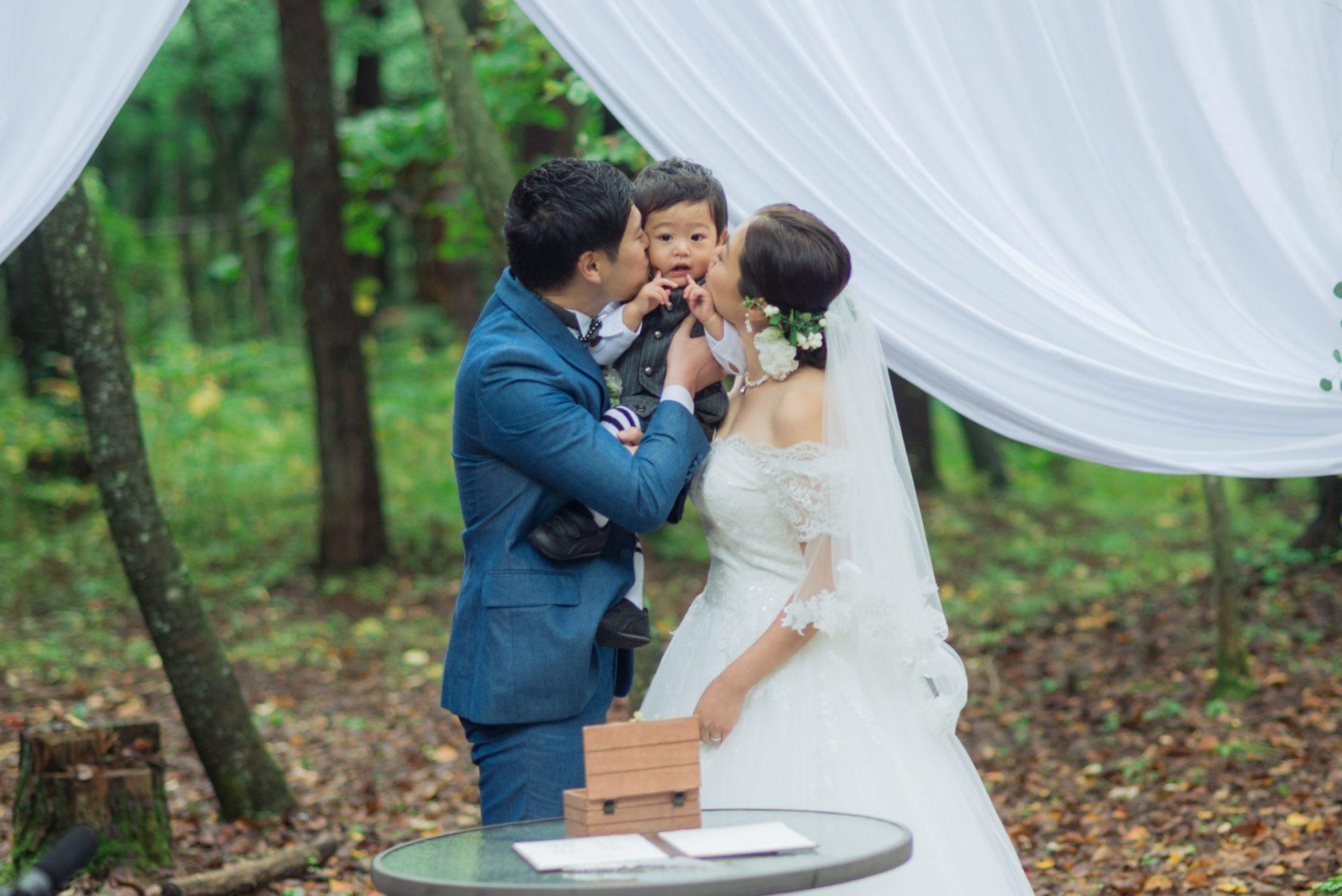 べるが(verga)での結婚式-誓いのキス