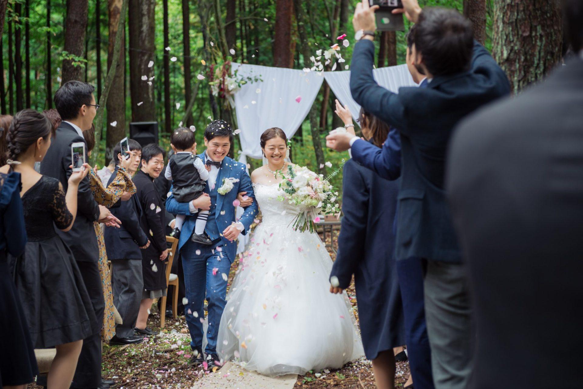 べるが(verga)での結婚式-フラワーシャワー
