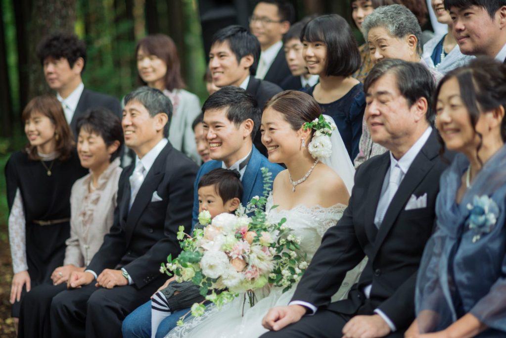 べるが(verga)での結婚式-親族での集合写真