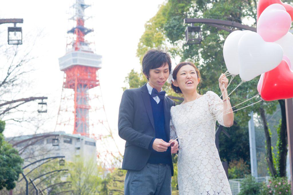 東京タワーを背景に御成門より撮影03