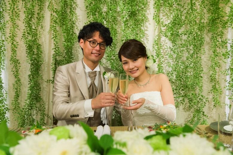 結婚式乾杯の写真