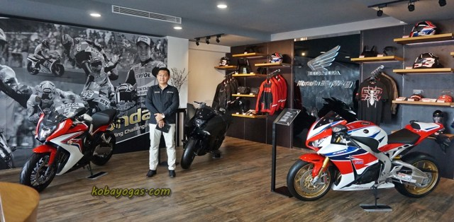 lay out nya sama antara dealer big bike