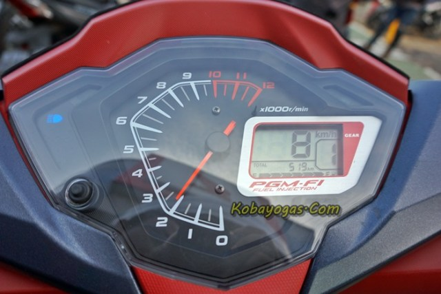 speedometer honda supra gtr 150 with gear indicator position