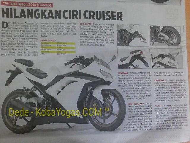 Modifikasi Yamaha Byson Banyumas Konsep Ala Ninja 250fi