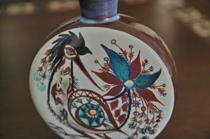 ロイヤルコペンハーゲン Marianne Johnsonデザイン 鳥の花瓶