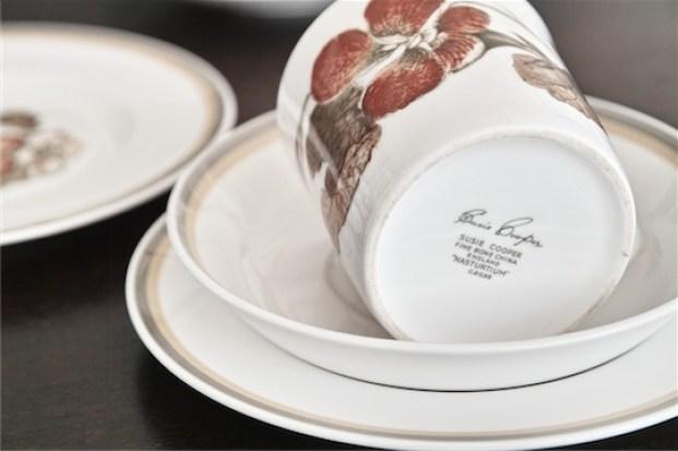 スージークーパー ナスタチューム パターン コーヒーポットとトリオのセット 2