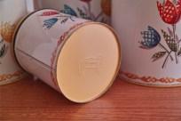 アメリカ Decoware社のチューリップ柄 4点セット 蓋は黄色 2