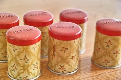 英国 Worcester Ware  ウースターウェアーア社製 スパイス缶セット クランボーン柄