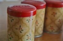英国 Worcester Ware  ウースターウェアーア社製 スパイス缶セット クランボーン柄 3