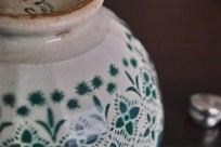 カフェオレボウル その10 グリーンのモロッコレース柄 1