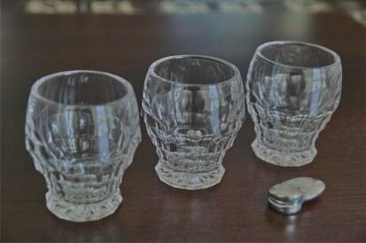 古い小さなグラス 3点セット
