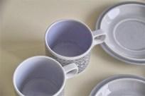 英国 ホーンジー(HORNSEA)コーヒーカップ&ソーサー × 3ヶセットで タペストリー柄 2