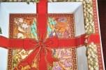 ドイツ ローゼンタール(Rosenthal)2003年度版 ヴェルサーチ クリスマスプレート 飾り用角皿 6