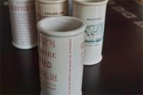 英国 クロテッドクリームボトル ピンク文字 ロングサイズ その1 2
