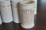 英国 クロテッドクリームボトル ブラウン文字 ロングサイズ 6