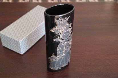 ビョルンヴィンブラッド デザイン ローゼンタール 筒型 花器 BLACK