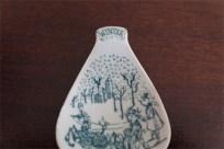 1950年代 ビョルン・ヴィンブラッド(Bjorn Wiinblad 1918-2006 )デザイン マメ皿 ソリで行く男女 winter柄 スプーンレストやティーバッグ用に 欠けあり