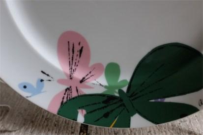 Andy Warhol (アンディ ワォホール)バタフライ飾りプレート ドイツ ローゼンタール スタジオライン製 飾り用プレート 27㌢
