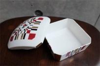 資生堂 SHISEIDO ノベルティ  椿会 1997年度 フェイスパウダー用 陶器製小物入れ 7