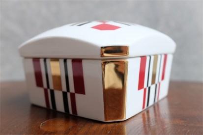 資生堂 SHISEIDO ノベルティ  椿会 1997年度 フェイスパウダー用 陶器製小物入れ 2