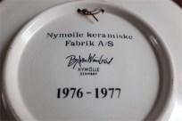 Bjørn (Bjorn) Wiinblad (ビョルン・ヴィンブラッドさん)デザイン  飾り皿 デンマーク ニモール窯(Nymølle)1976年製 8