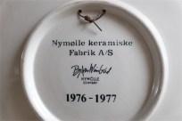 Bjørn (Bjorn) Wiinblad (ビョルン・ヴィンブラッドさん)デザイン  飾り皿 デンマーク ニモール窯(Nymølle)1976年製 2
