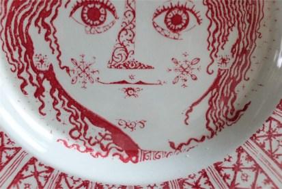Bjørn (Bjorn) Wiinblad (ビョルン・ヴィンブラッドさん) 飾り皿 31㌢  デンマーク ニモール窯 Nymølle 3057-164 13