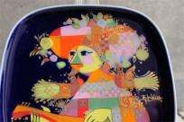 ドイツ ローゼンタールStudio-line製 ビョルン・ヴィンブラッドデザイン 飾り皿 ギター(バラライカ)を弾く女性 12