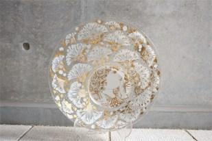 独1976年 ROSENTHAL(ローゼンタール社)製 ビョルン・ヴィンブラッドデザインのガラス飾り皿 3000枚限定 27