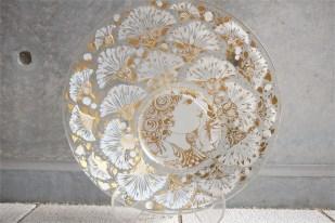 独1976年 ROSENTHAL(ローゼンタール社)製 ビョルン・ヴィンブラッドデザインのガラス飾り皿 3000枚限定 26