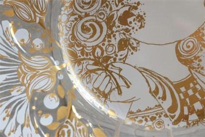 独1976年 ROSENTHAL(ローゼンタール社)製 ビョルン・ヴィンブラッドデザインのガラス飾り皿 3000枚限定 22