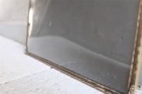 デンマーク製 アンティークフレーム 吹きガラス製で凸型に湾曲しています B 4