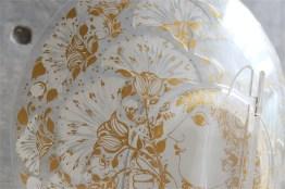 独1976年 ROSENTHAL(ローゼンタール社)製 ビョルン・ヴィンブラッドデザインのガラス飾り皿 3000枚限定 6