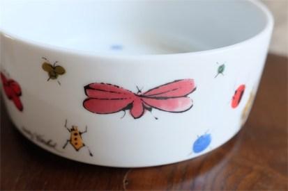 Happy bug day  アンディ・ウォーホル (Andy Warhol)デザイン 独 ローゼンタール製 飾りボウル 昆虫柄