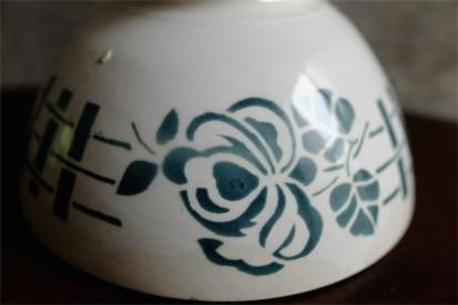 カフェオレボウル その36 フランス DIGOIN(ディゴアン)社製 グリーンの薔薇柄