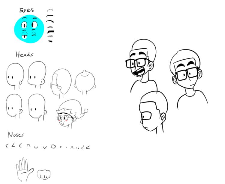 Sketch drawing reference sheet-0