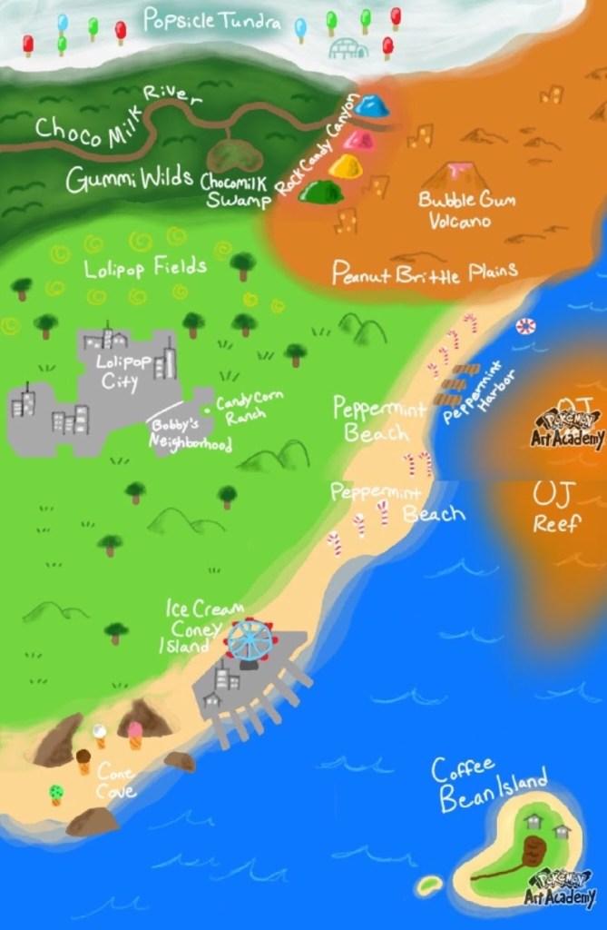 Lollipop Land Map