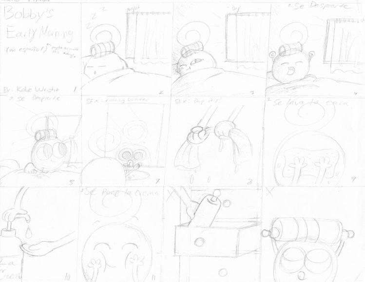 Manaña de Bobby Storyboard 1