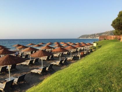 The Sheraton's private beach.